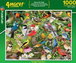 Winged Wonders Collage Impossible Puzzle