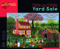 Yard Sale Folk Art Jigsaw Puzzle