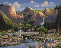 Yosemite Waterfalls Jigsaw Puzzle