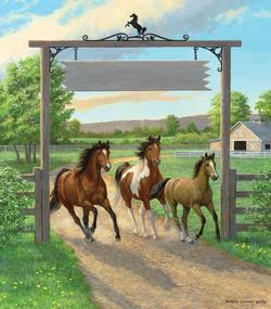 Seize the Day Horses Jigsaw Puzzle