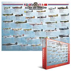 Allied Air Command WWII Fighters Military Jigsaw Puzzle