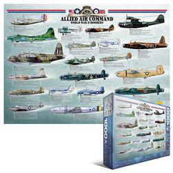 Allied Air Command WWII Bombers Military Jigsaw Puzzle