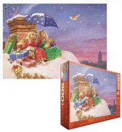 Angels on the Roof Snow Jigsaw Puzzle