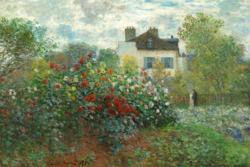 The Artist's Garden in Argenteuil by Claude Monet People