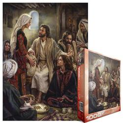 At Jesus' Feet Religious Jigsaw Puzzle