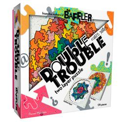 Baffler Double Trouble - Flower Mandala Graphics Jigsaw Puzzle