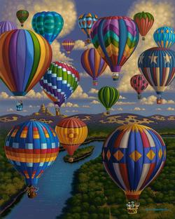 Balloon Festival Lakes / Rivers / Streams Jigsaw Puzzle