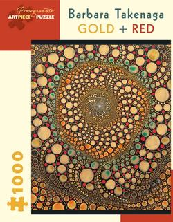 Gold + Red  Abstract Jigsaw Puzzle