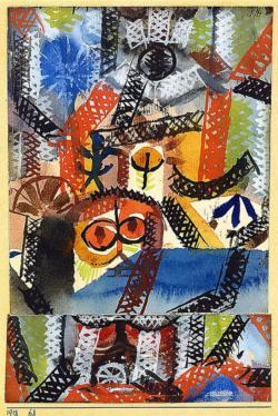 Barbaric Composition by Paul Klee People