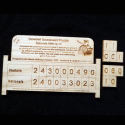 Baseball Scoreboard Puzzle Brain Teaser