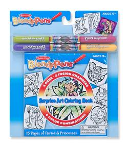 BlendyPens - Coloring Book - Princess Princess Children's Coloring Books - Pads - or Puzzles