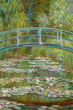 Bridge Over a Pond of Waterlilies by Claude Monet People
