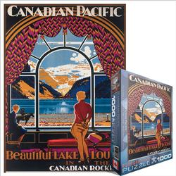 Beautiful Lake Louise (Canadian Pacific) Trains Jigsaw Puzzle
