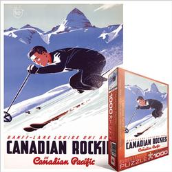 Banff and Lake Louise Ski Areas (Canadian Pacific) Snow Jigsaw Puzzle