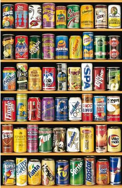 Cans (Mini) Pattern / Assortment Miniature Puzzle