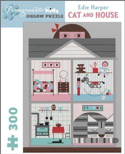 Cat and House Contemporary & Modern Art Jigsaw Puzzle