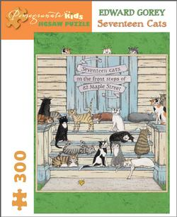 Seventeen Cats Cartoons Jigsaw Puzzle