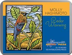 Cedar Waxing (Mini) Contemporary & Modern Art Miniature Puzzle