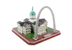 Gateway Arch & Old Courthouse Jefferson National Exp. Memorial United States 3D Puzzle