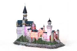 Neuschwanstein Castle with LED lighting Germany 3D Puzzle