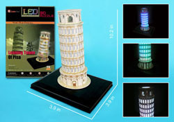 Leaning Tower of Pisa with LED lighting Leaning Tower of Pisa 3D Puzzle