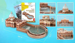 St. Peter's Basilica Churches 3D Puzzle