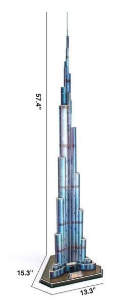 Burj Khalifa Landmarks 3D Puzzle