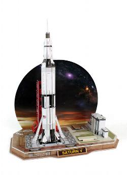 Saturn V Rocket Space 3D Puzzle
