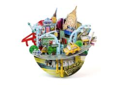 New York Cityscape Bank Cities 3D Puzzle