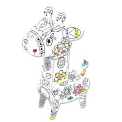 Giraffe 3D Coloring Puzzle with Pens Animals Coloring Puzzle