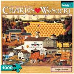 Pumpkin Hollow Folk Art Jigsaw Puzzle