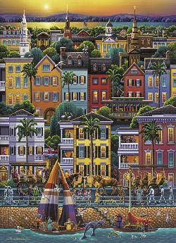 Charleston Folk Art Jigsaw Puzzle