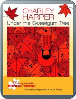 Under the Sweetgum Tree (Mini) Contemporary & Modern Art Miniature Puzzle