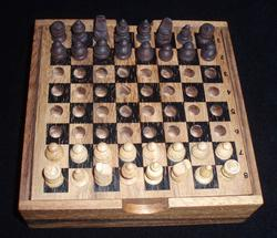 Chess - Travel (Carved Men)