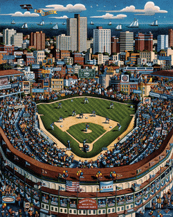 Chicago Cubs Folk Art Jigsaw Puzzle