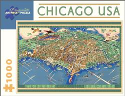 Chicago USA Map of the City, 1931 Cities Jigsaw Puzzle
