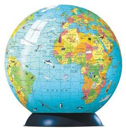 Puzzleball - Children's Globe & Booklet (270pc) Maps Kids Puzzle