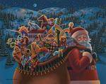 Christmas Delivery Folk Art Jigsaw Puzzle