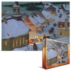 Christmas Mass Snow Jigsaw Puzzle