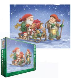 Christmas Sleigh Snow Jigsaw Puzzle