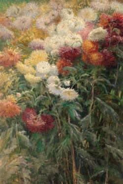 Chrysanthemums in the Garden by Claude Monet People