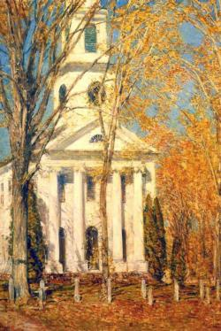 Church at Old Lyme by Childe Hassam Fine Art