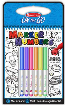 Color By Numbers - Blue Children's Coloring Books - Pads - or Puzzles