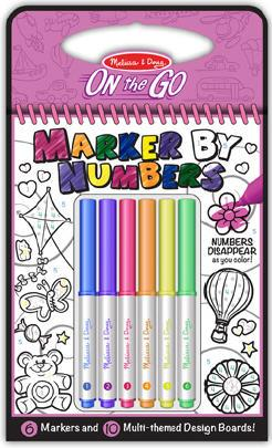 Color By Numbers - Pink Arts and Crafts