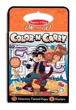 Color-N-Carry - Adventure Children's Coloring Books - Pads - or Puzzles