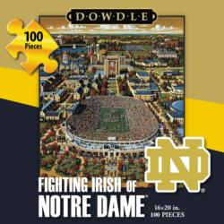 Fighting Irish of Notre Dame Folk Art Jigsaw Puzzle