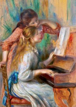 Girls at the Piano Contemporary & Modern Art Jigsaw Puzzle