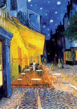 Café Terrace at Night Post Impressionism Jigsaw Puzzle