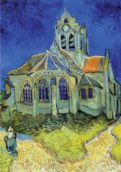 The Church at Auvers Post Impressionism Jigsaw Puzzle