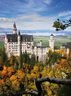 Neuschwanstein Portrait Travel Jigsaw Puzzle
